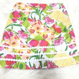 Lilly Pulitzer Pink Green Yellow Floral Size 2